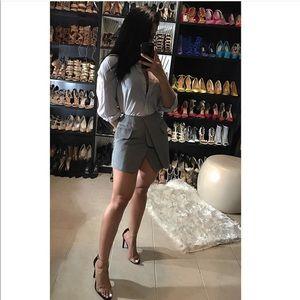 Gray flap skirt
